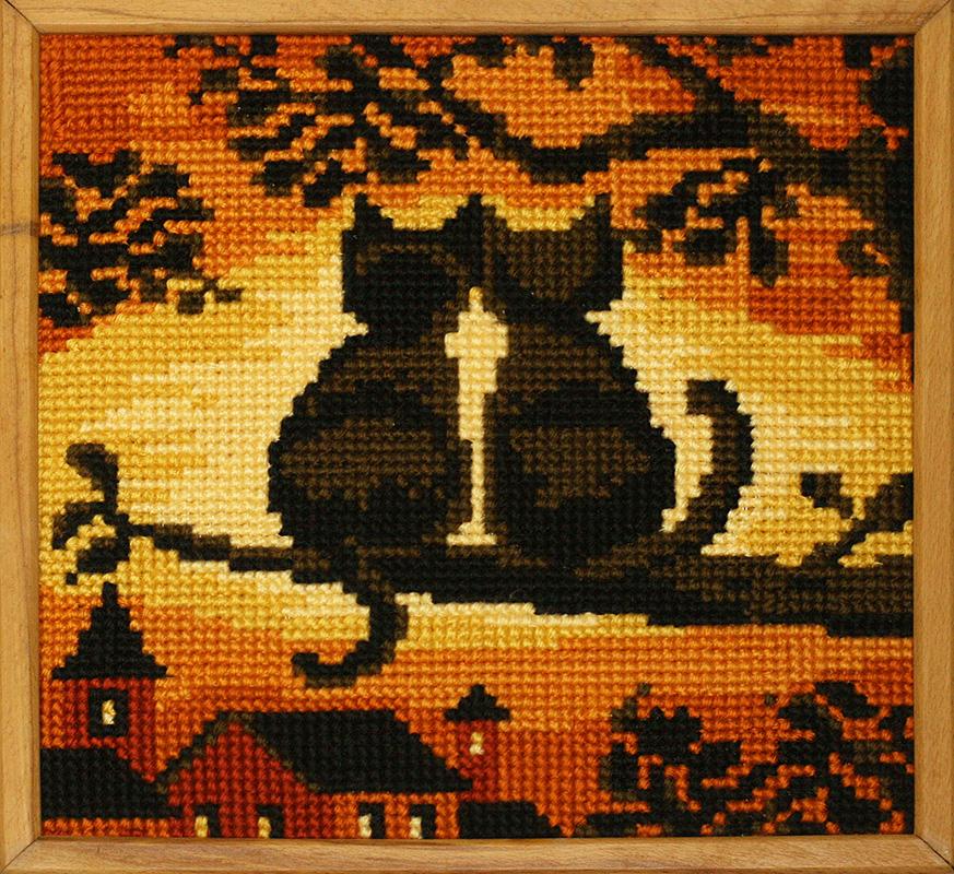 Вышивки крестом коты фото